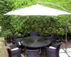Side Elevated Parasol 3m