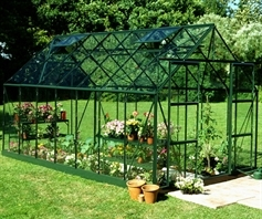 Eden Halls Magnum Greenhouse Forest Green 14ft x 8ft
