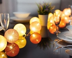 Smart Solar Glo-Globe String Lights
