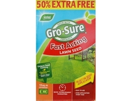 Gro-Sure Fast Acting Lawn Seed 10m² + 50% Extra Free