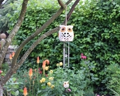 Smart Solar Snowy Owl Wind Chimes