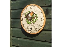 Robin Wall Clock & Thermometer