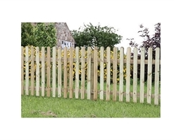 Zest4Leisure Rounded Top Picket Pale Fencing