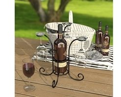 Panacea Wine Bottle & Glass Caddy