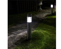 Smart Solar Wave Stainless Steel Bollard