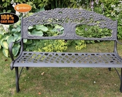 Gardeco Cast Iron Bench With Tree