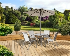 Pagoda Rhodes - 4 Seater Dining Set