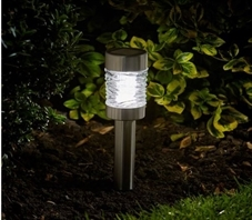 Smart Solar Martini Stainless Steel 3L Stake Light