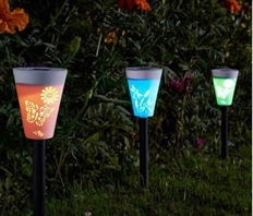Smart Solar Silhouette Stake Lights Carry Pack