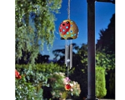Smart Solar Robin Wind Chimes